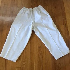 Eileen Fisher Easy to pull on Stylish white pants